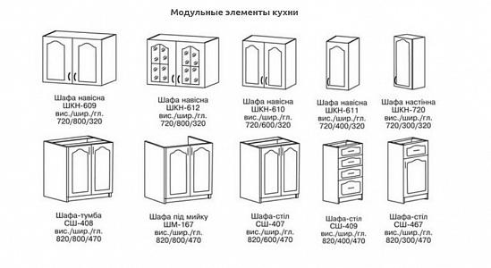 Кухня Оля Лак 2.6 заказать с доставкой   Первый Мебельный